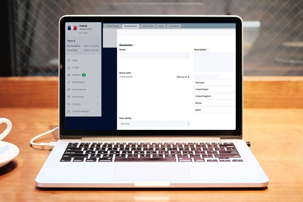 Statecraft MUN Digital Assistant Interface