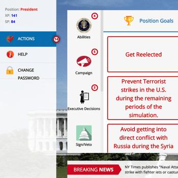 Statecraft U.S. Government Simulation President Goals
